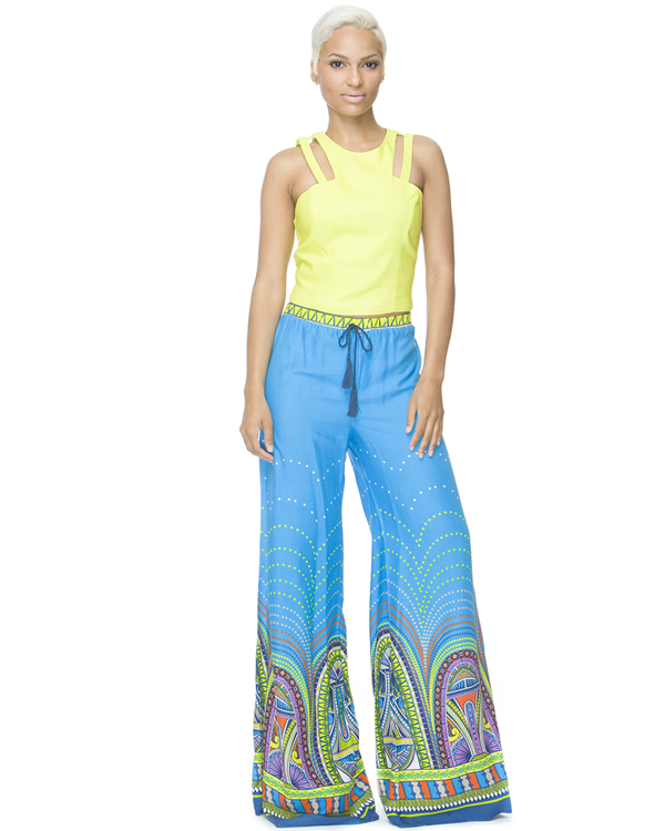 FLORAL COMPASS Palazzo Pant – FLYJANE