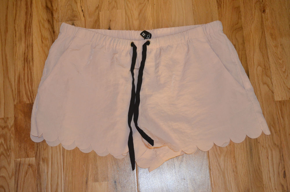 H M Baby Pink Scallop Shorts UK 12 | eBay