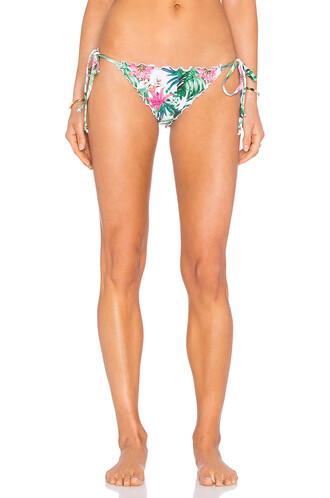 bikini tropical floral white