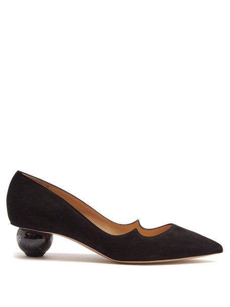 Paul Andrew suede pumps pumps suede ankara black shoes