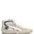 Slide high-top leather trainers