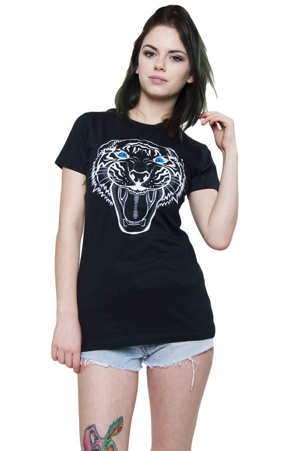 t-shirt tiger t shirt tiger t-shirt black t shirt t-shirt xirl summer hot sexy shorts