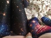 pants,Black Milk,etsy,leggings,galexy