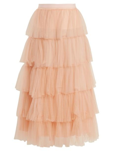 Emilio De La Morena skirt tulle skirt light pink light pink