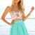 SABO SKIRT  Wonderland Skirt - Mint - Mint - 48.0000