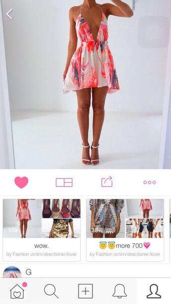 dress summer dress pink dress