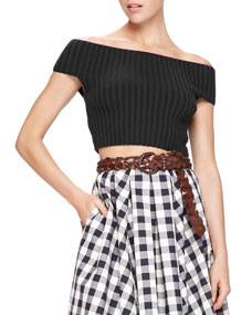 Shoulder crop top