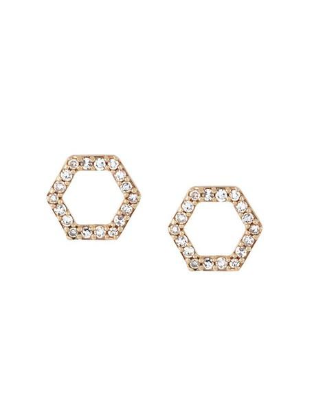 Astley Clarke women earrings stud earrings gold grey metallic jewels
