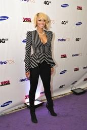 blouse,black and white stripes,keri hilson