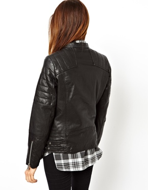 ASOS | ASOS Leather Boyfriend Biker Jacket at ASOS