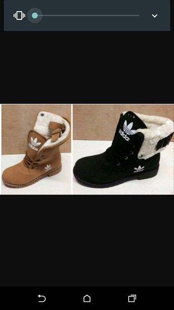 shoes adidas fur boots adidas shoes