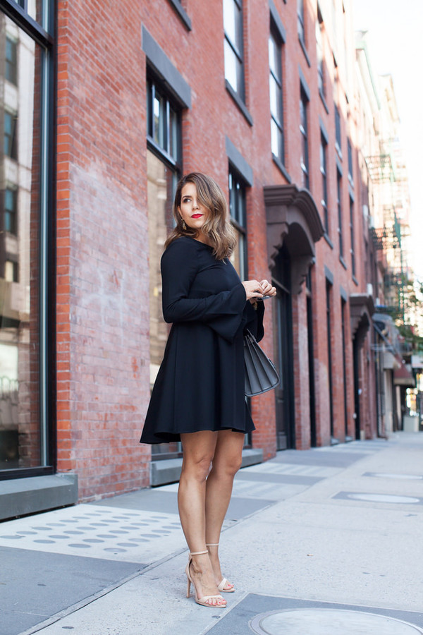 the corporate catwalk blogger black dress