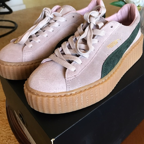 watch 5aab4 18bf8 Fenty puma Rihanna creepers pink green women's 7 7 from Sara's closet on  Poshmark