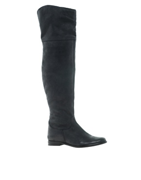 ASOS | ASOS KARMA Leather Over The Knee Boots at ASOS