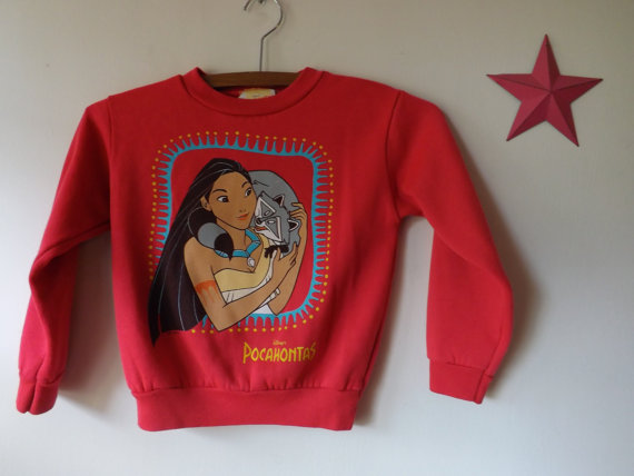Great Girls Vintage DISNEY POCAHONTAS & Meeko by ChiweenieVintage