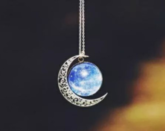 jewels necklace moon necklace