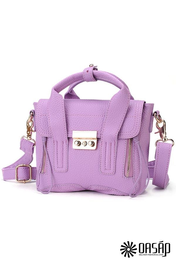 Cute Candy Color PU Shoulder Bag - OASAP.com