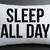 sleep all day pillow