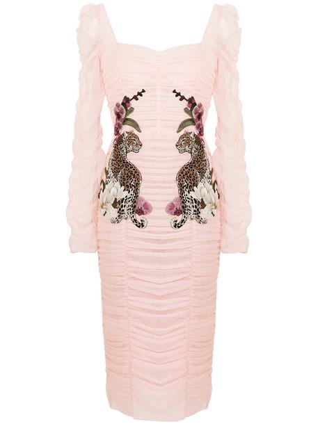 Dolce & Gabbana dress draped dress women draped cotton purple pink