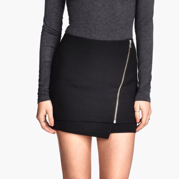 skirt zip short skirt