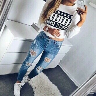 shirt parental advisory explicit content black white top summer outfits winter outfits sweater