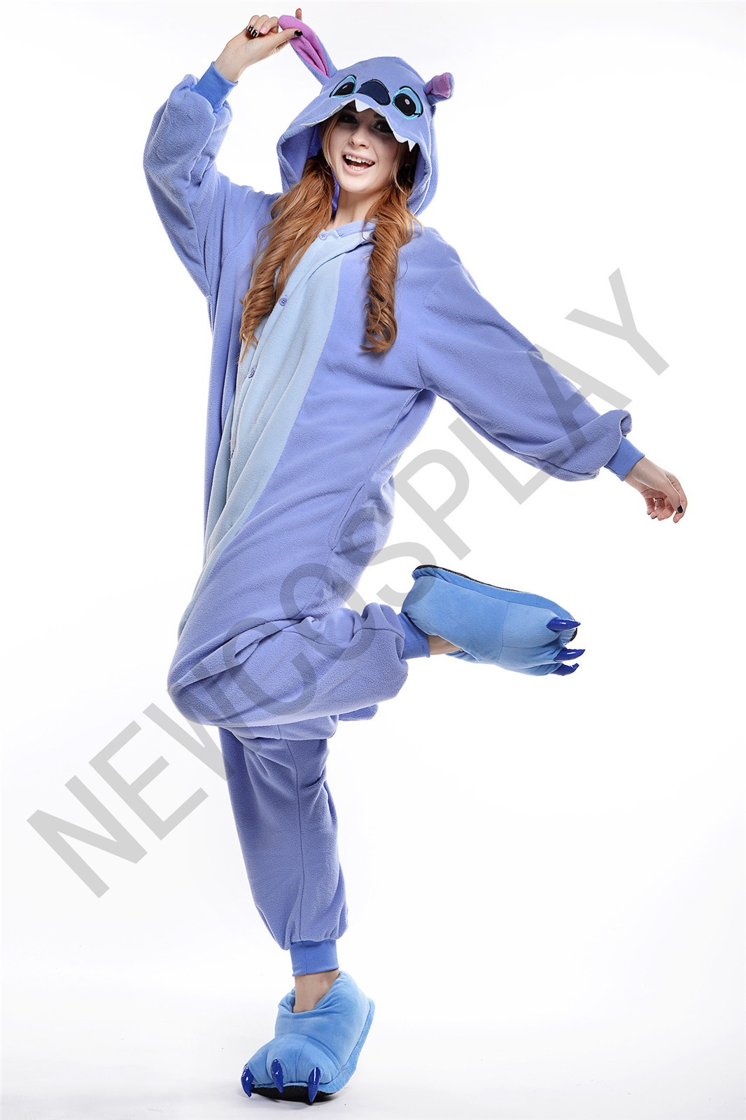 Blue stitch onesie by newcosplay onesie