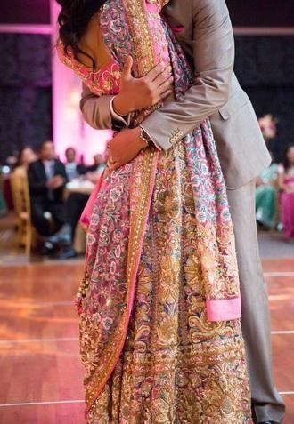 dress pink dress pink blue pink blue pink blue dress blue dress sparkle glitter indian saree fashion outfit cute pretty beautiful gorgeous dreams hindu hindie saree indian sarees asian gorgeous dress