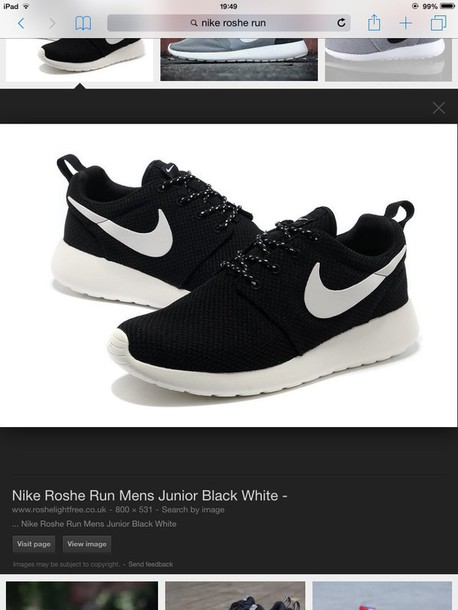 detailed pictures 8fa3c 548ff shoes nike roshe runs black and white volt black and white i want black and  white
