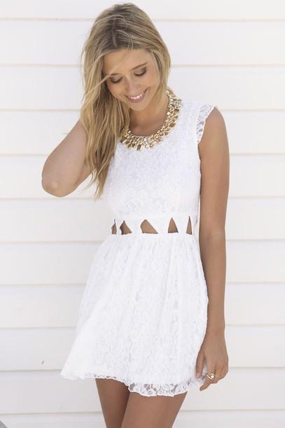 dress white dress sleeveless dress floral dress