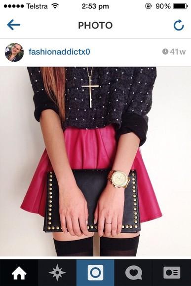 diamonds cardigan black rolled sleeves
