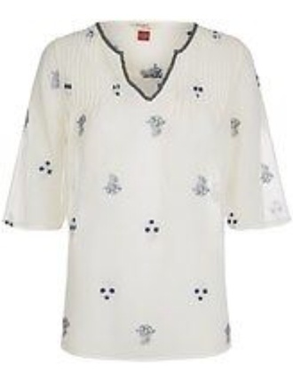 blouse embroided liberty beaded hand stictched monsoon