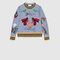 Gucci - check jersey embroidered sweatshirt 415656x59384814