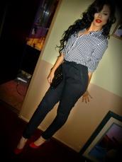 pants,black,skinny leg,skinny belt,hella cute,tight,bottoms,blouse