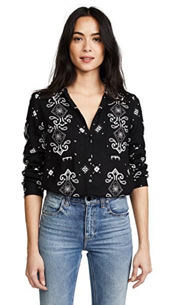 L'Agence blouse black top