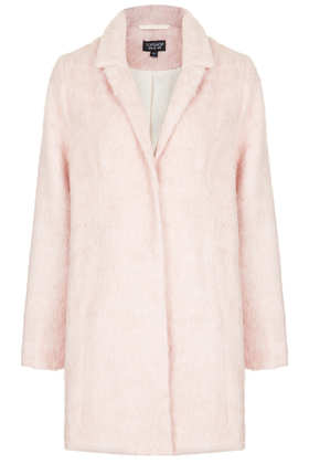 Fluffy Swing Boyfriend Coat - Topshop