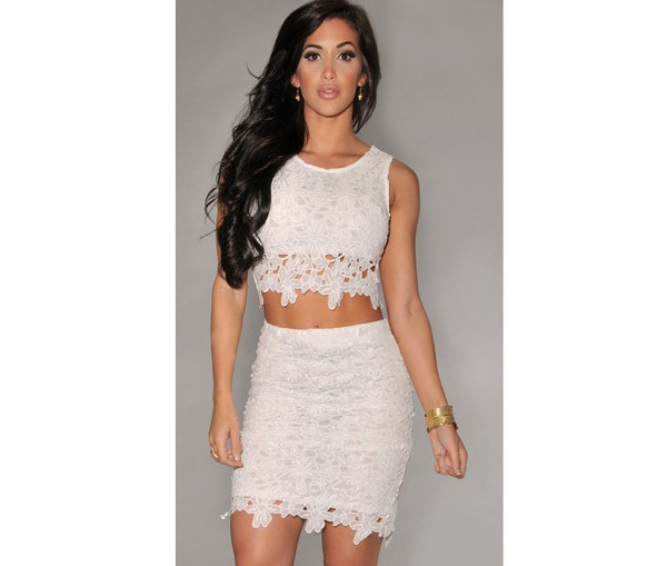 dress two-piece two-piece lace dress cut-out dress hollow out dress crop tops top ebonylace.storenvy ebonylace.storenvy ebonylace247 ebonylace-streetfashion