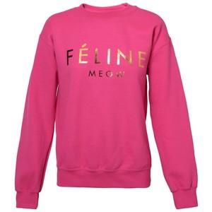 BRIAN LICHTENBERG Unisex Feline Cotton-blend Sweatshirt - Polyvore
