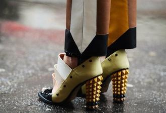 shoes spike spike rivet ankle heels brand high heels open toe shoes