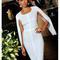 Bandage irina white midi dress