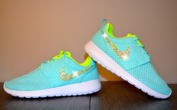 shoes nike running shoes glitter mint blue green tumblr shoes pretty 8bc843efd8