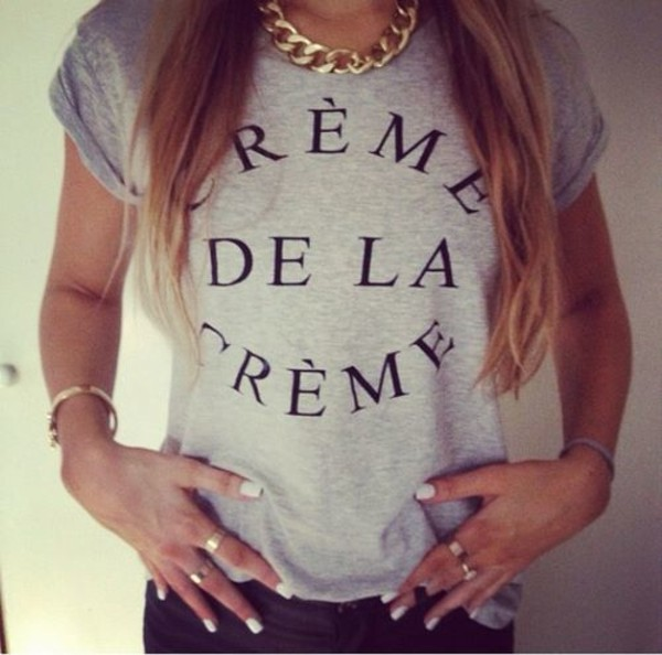 shirt creme de la creme grey cr?me