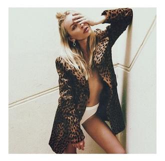 coat panterprint panter fur leopard coat leopard print jacket