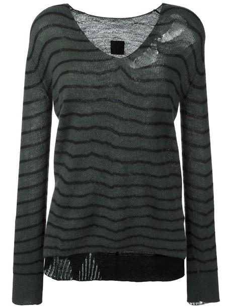 rta jumper fine knit jumper knit women green sweater