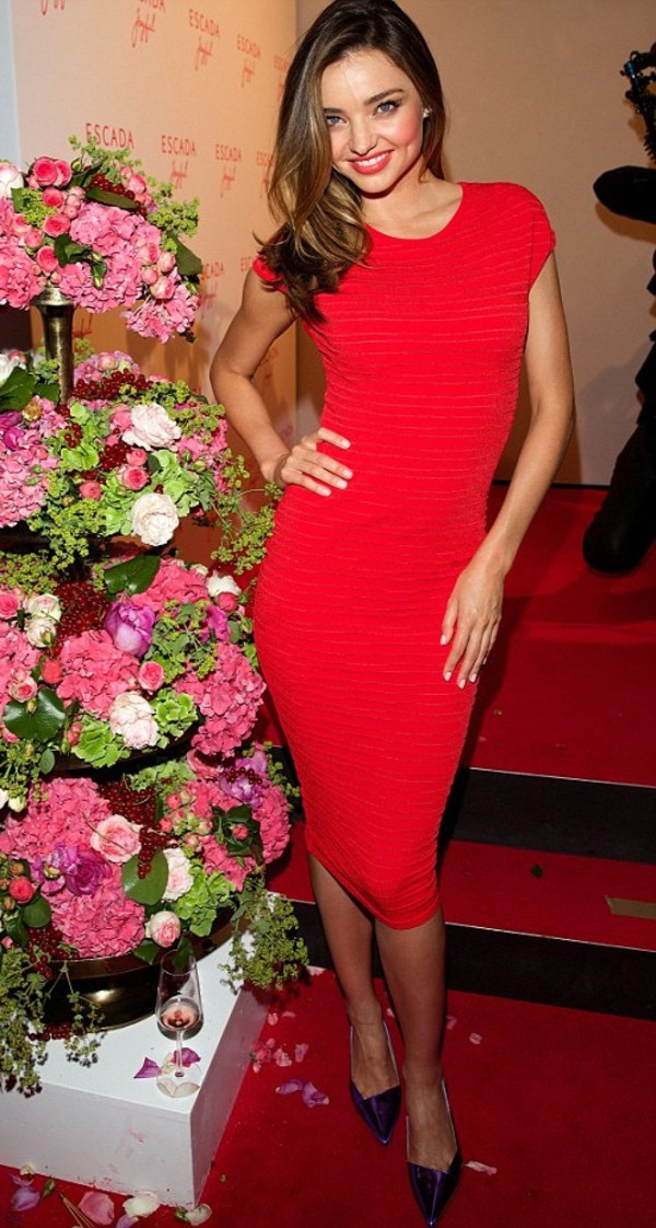 dress red dress miranda kerr