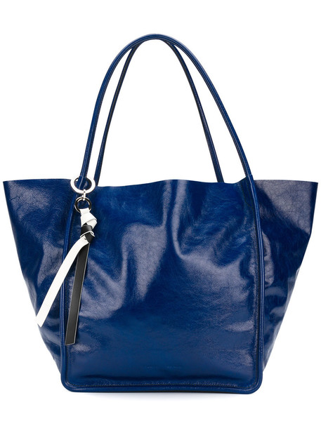 Proenza Schouler - Extra Large Tote - women - Calf Leather - One Size, Blue, Calf Leather