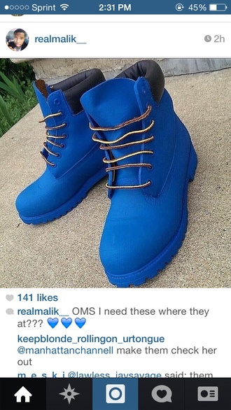 shoes blue timberlands timberlands and gold chain timberland boots shoes