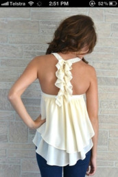 blouse,singlet,white top,clothes,white,flowy top,wavy,cute,open,tank top,dressy,shirt,white shirt,beige,ruffle,cream,chiffon,flowy,white tank top,white summer top,off-white,flowing,cream top,top,bows,aprocot lane,t-shirt,ruffled top,light,summer top,pretty,style,fashion,outfit,girly,dress,white blouse,dressy tank top