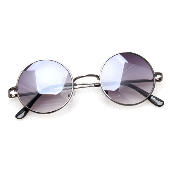 Fashionable Sunglasses UV400 Protection Stylish Sunglasses Progressive Round Lens Metal Frame, unit price of $6.62 only - Yesfor.com