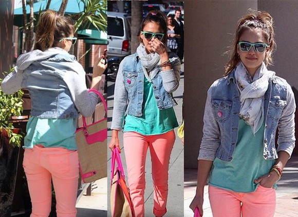 jacket denim denim jacket fashion jessica alba cute