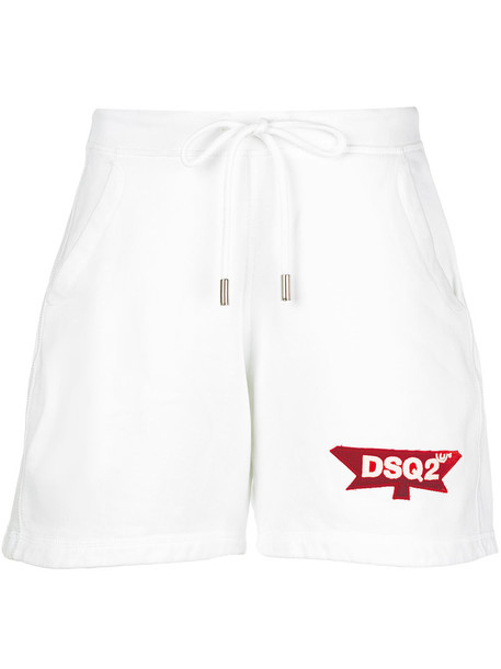 Dsquared2 shorts women spandex fit white cotton